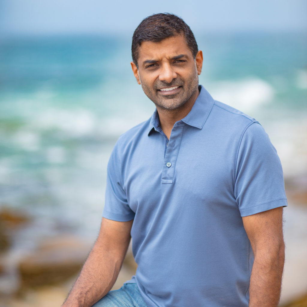 Amit Raizada portrait on the beach